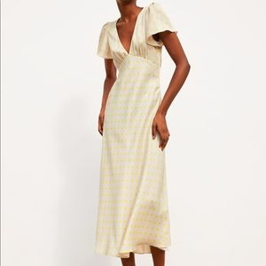 Zara Polka Dot Satin Dress